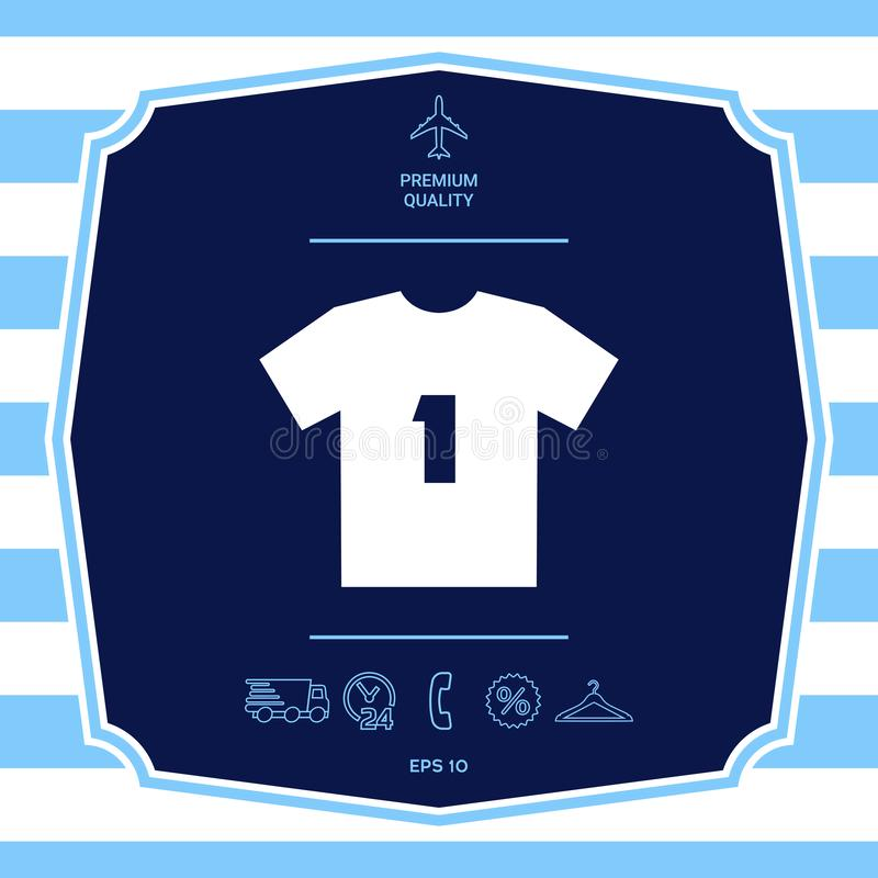 Mężczyzny sporta koszulki ikona sylwetka Menu rzecz w sie? projekcie ilustracja wektor