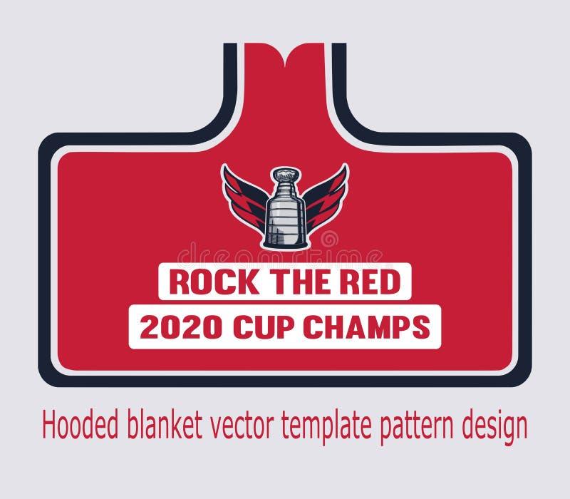 Mężczyzny Stanley filiżanka okapturzał powszechnego tamplate wzoru projekt hokejowy trofeum royalty ilustracja