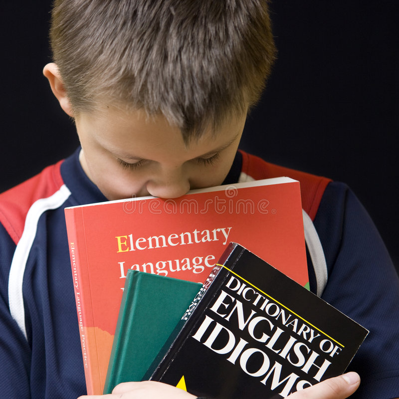męczący angielski uczenie zdjęcia stock