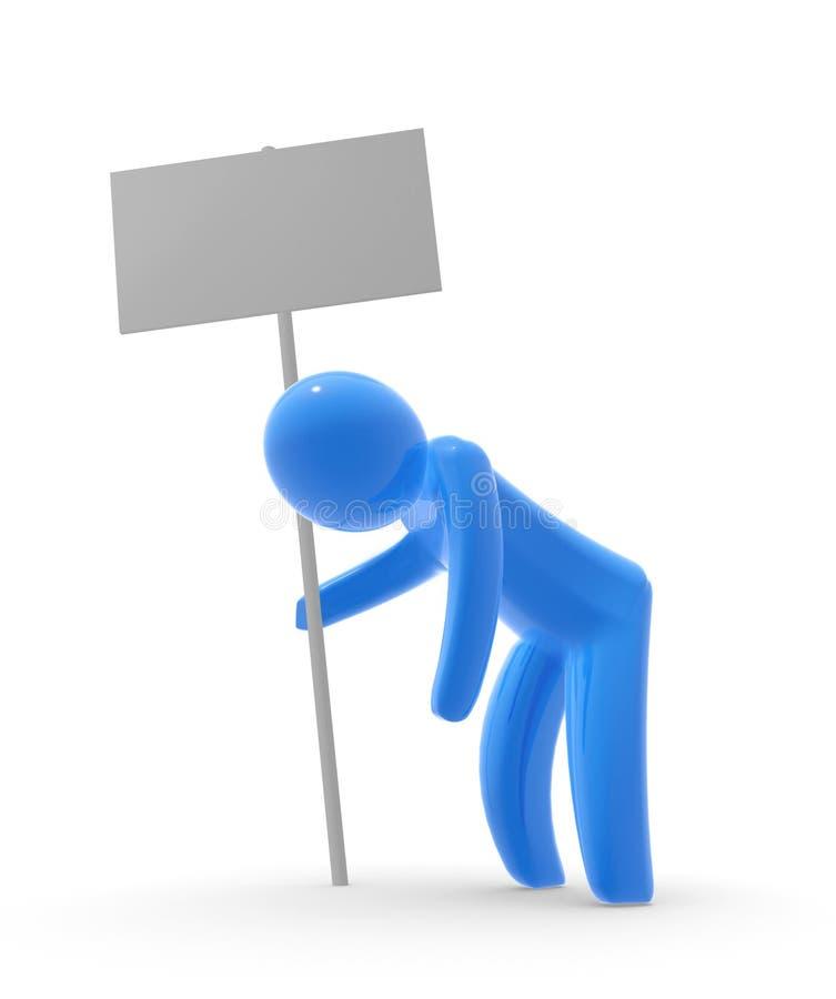 męczący osoba plakat ilustracja wektor