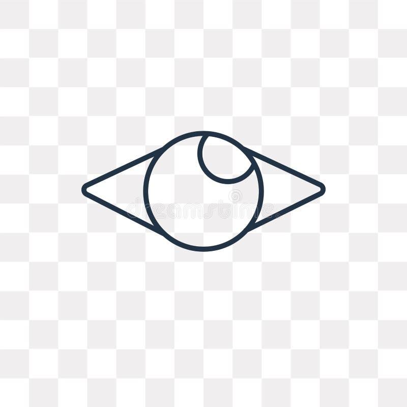 Męczy wektorową ikonę na przejrzystym tle, liniowy F ilustracja wektor