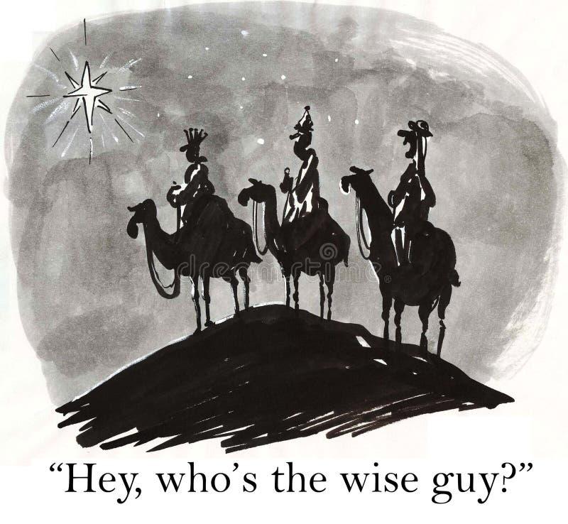 Mędrzec mądrymi facetami są ilustracji