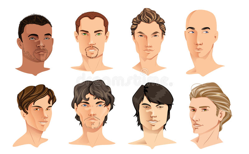 męscy portrety ilustracji