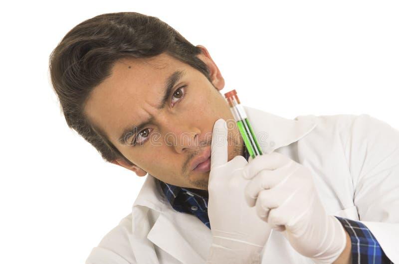 Męska lab badacza technika naukowa lekarka obrazy royalty free