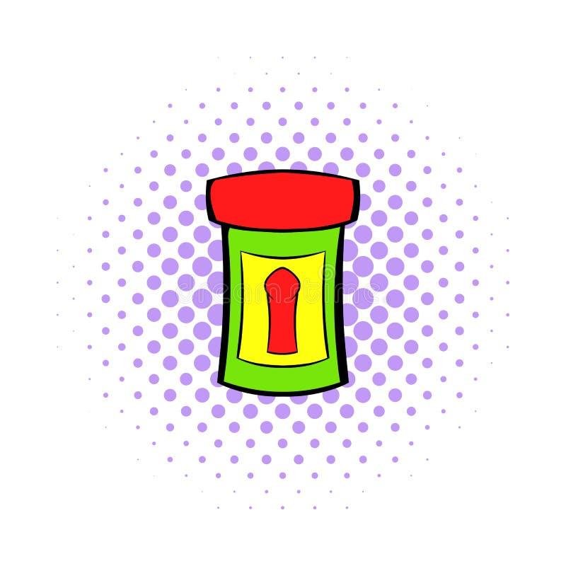 Męska medycyny ikona, komiczka styl ilustracja wektor