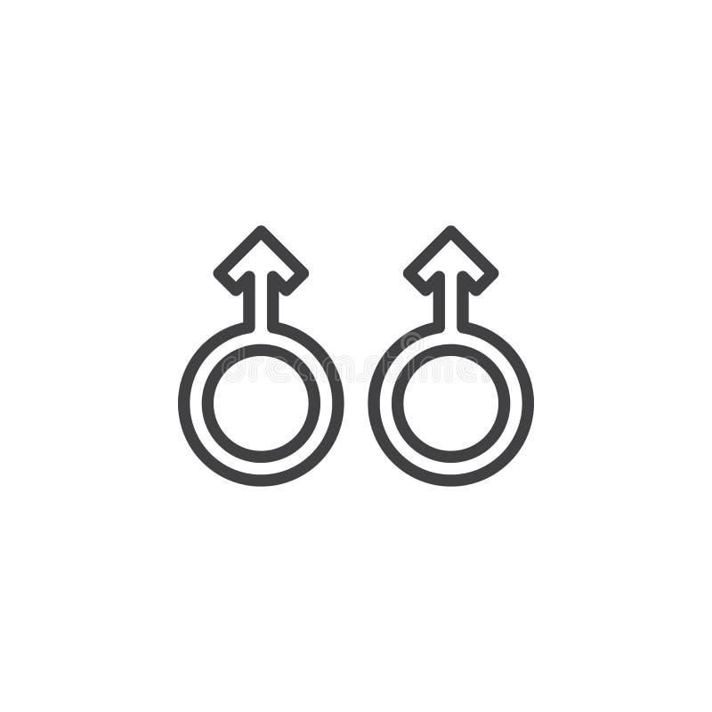 Męska orientacji seksualnej linii ikona ilustracji
