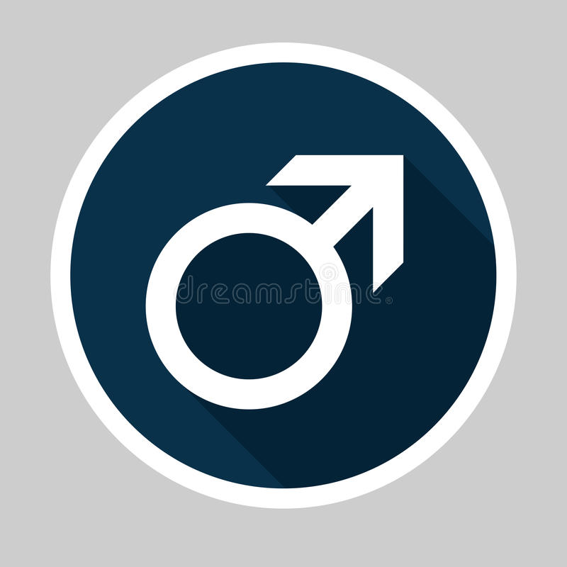 Męska Płaska projekt ikona zdjęcia stock