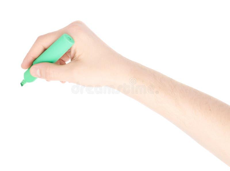 Męska ręka trzyma markiera zdjęcia stock