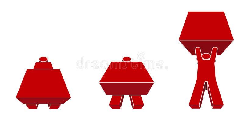 męska robota ilustracji