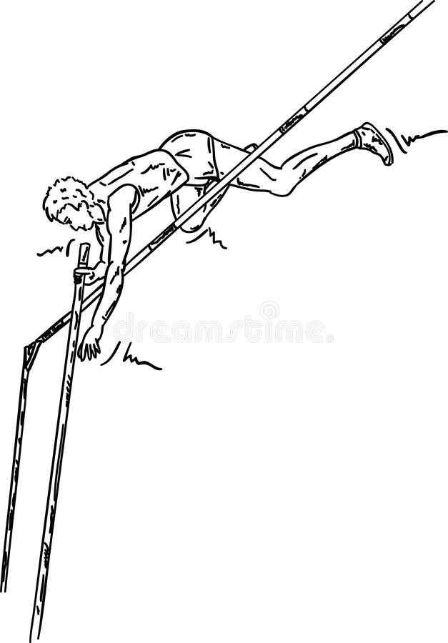 Męska wysoka bluza royalty ilustracja