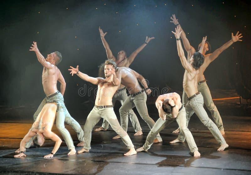 Męski baletniczy występ fotografia royalty free