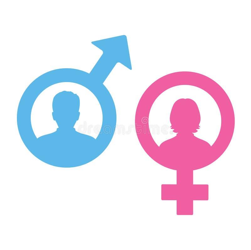 Męski i żeński ikona set Dżentelmenu i damy toalety znak Mężczyzna i kobiety użytkownika avatar Płaski projekta styl ilustracji