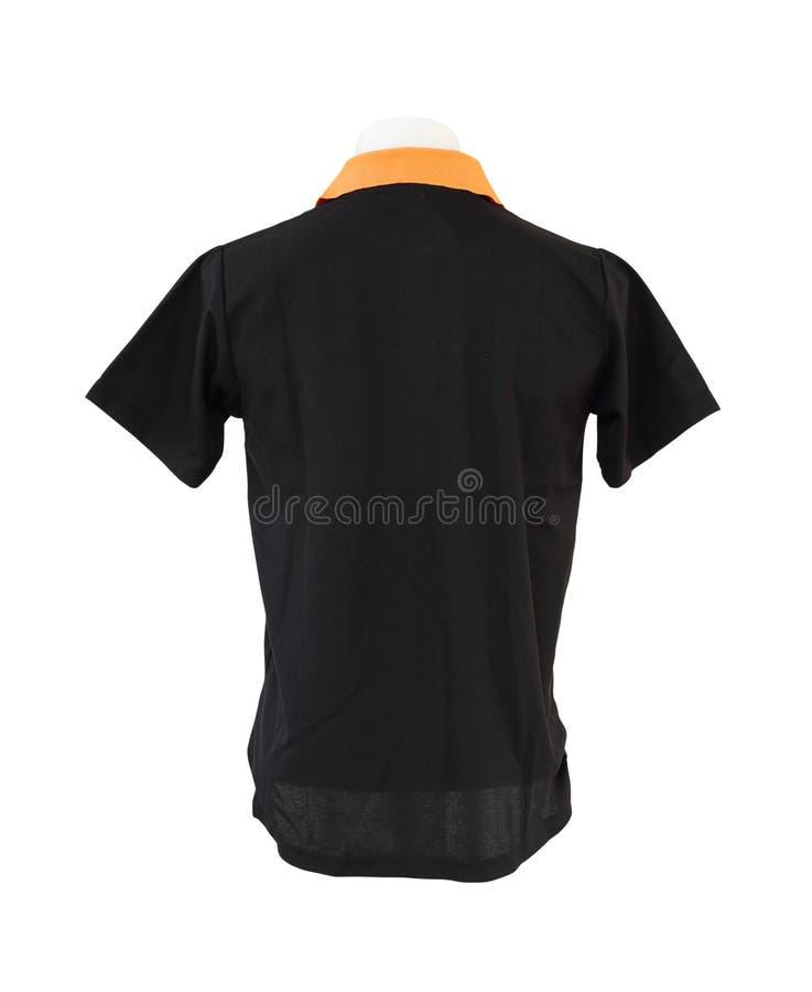 Męski koszulowy szablon na mannequin na białym tle fotografia stock
