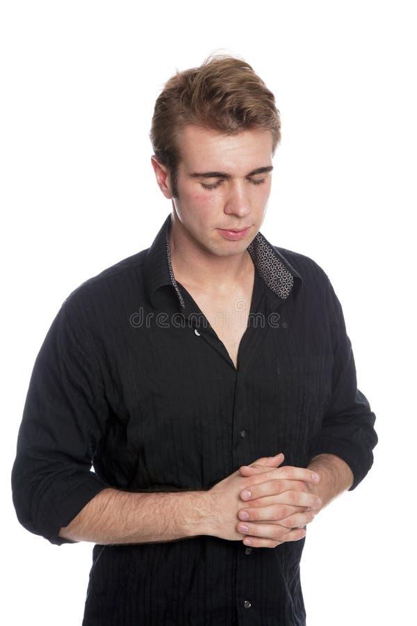 męski modlenie obrazy royalty free