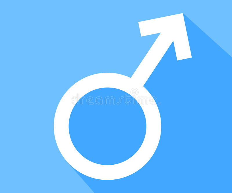 Męski płeć symbol ilustracja wektor