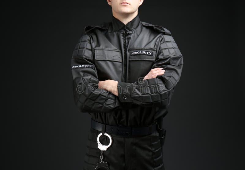 Męski pracownik ochrony W mundurze fotografia royalty free