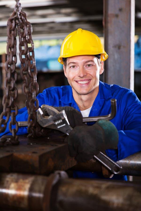 Męski przemysłowy mechanik zdjęcie royalty free