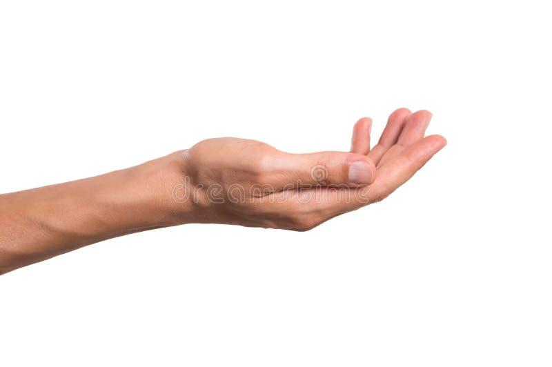 Męski ręki mienie zdjęcie stock