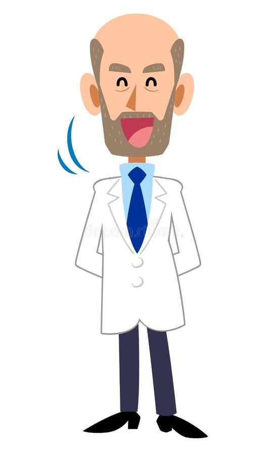 Męski wąsy skinienie bielu kontusz royalty ilustracja