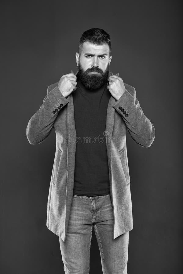 Męski wygląd Ubiór mody Brutalny hipster Hipster ubrany w ciuchy Broda hipsterska i stylowa fryzura fotografia royalty free