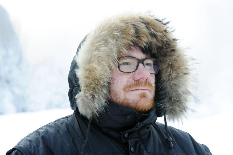 Męski zima portret obrazy stock