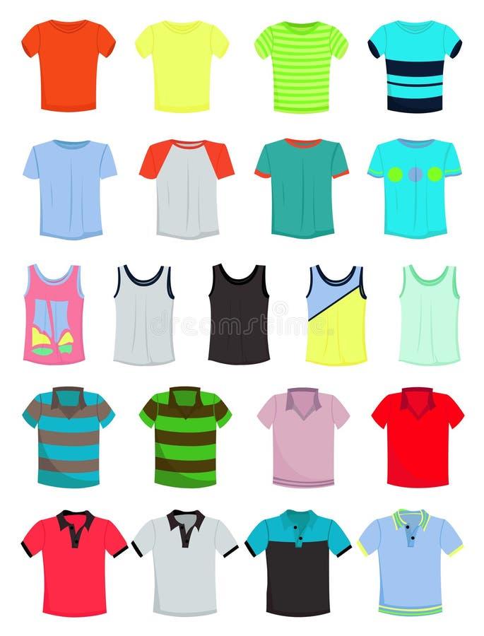 Męskie koszulki royalty ilustracja