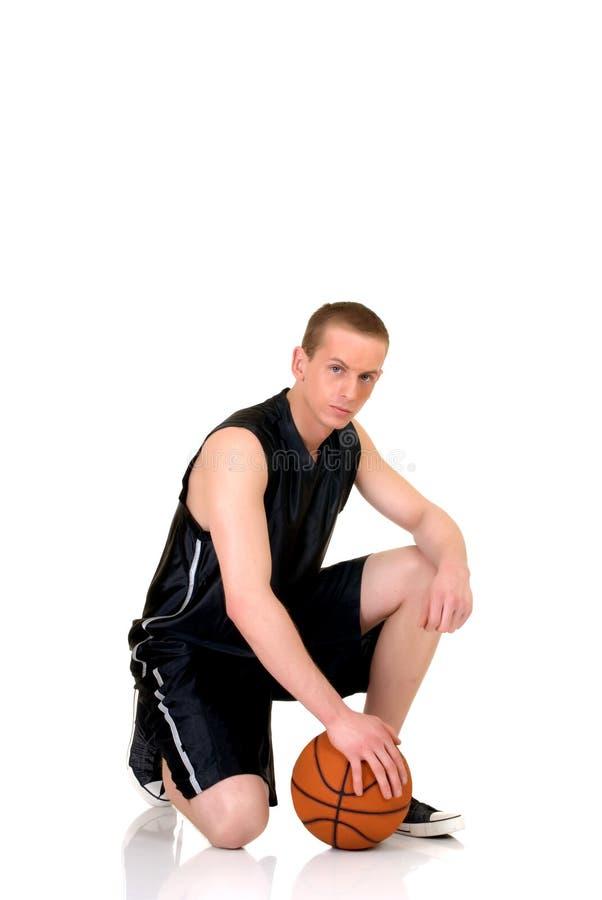 męskie potomstwo gracza koszykówki zdjęcia stock
