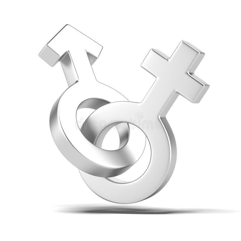 Męskiej i żeńskiej płci symbole ilustracja wektor