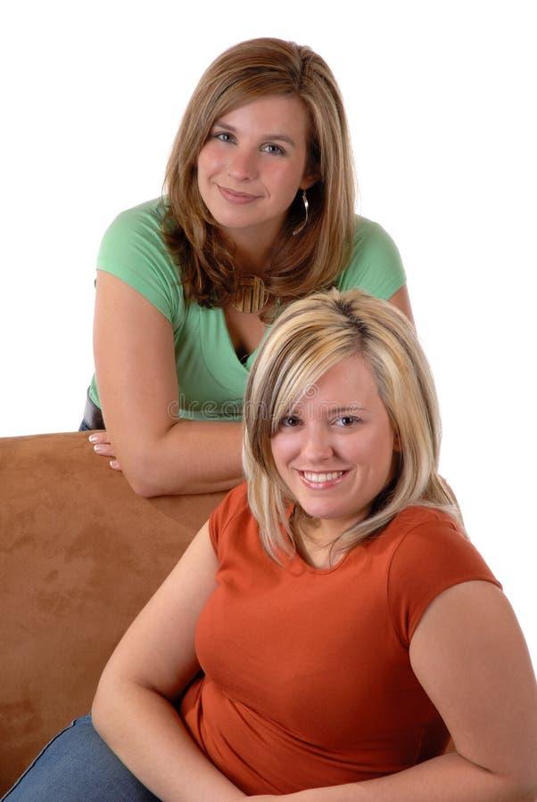młodą dwie kobiety. zdjęcie stock