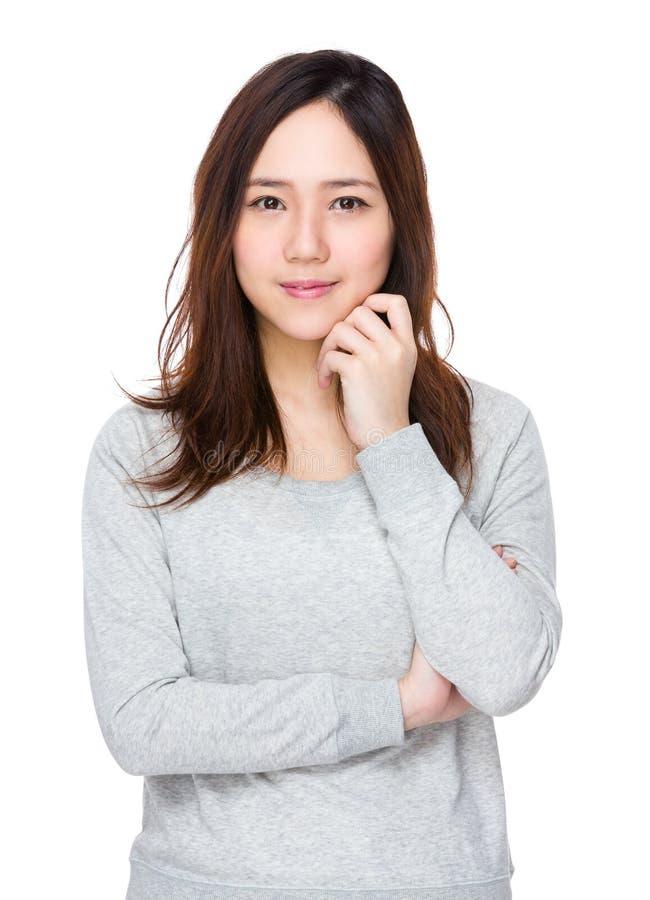 Młoda ładna kobieta fotografia stock