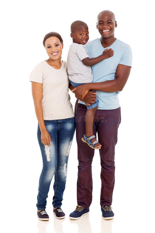 Młoda afrykańska rodzina fotografia stock