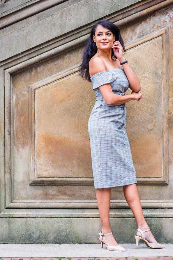 Młoda Amerykańska kobiety moda w Nowy Jork obraz royalty free