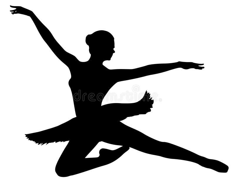 Młoda balerina w spódniczce baletnicy ilustracji