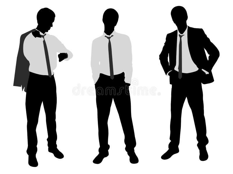 Młoda biznesmen pozycja royalty ilustracja