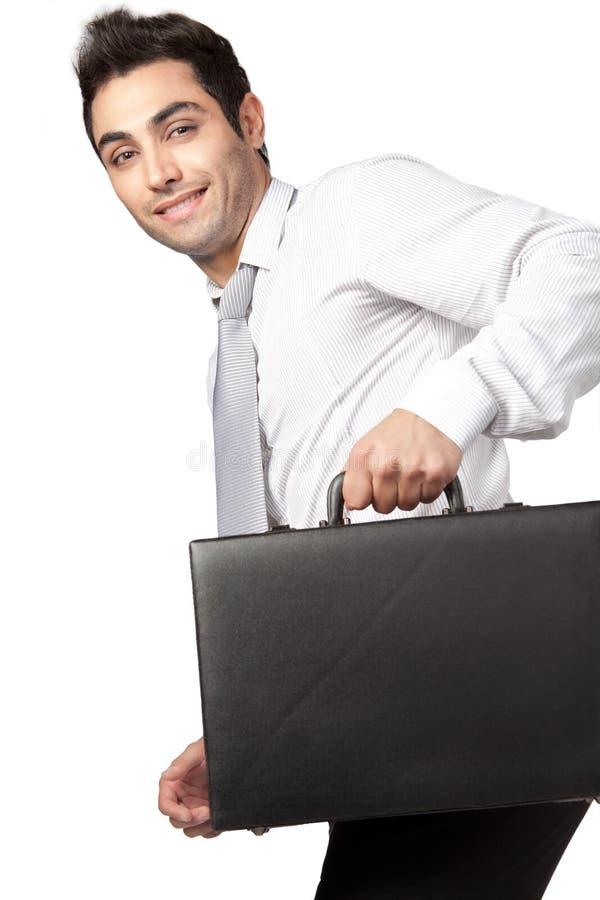 Młoda biznesmena mienia walizka zdjęcie stock