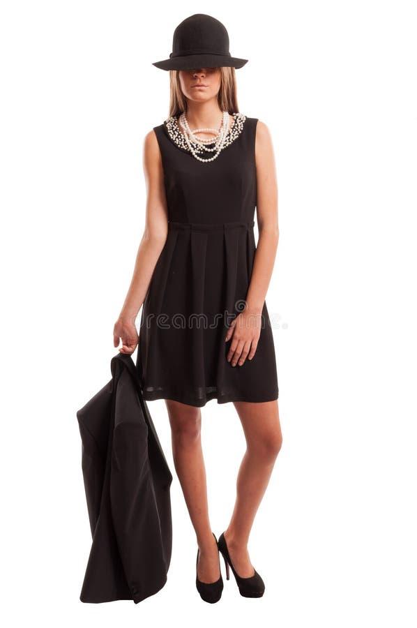 Młoda biznesowej kobiety pozycja fotografia stock
