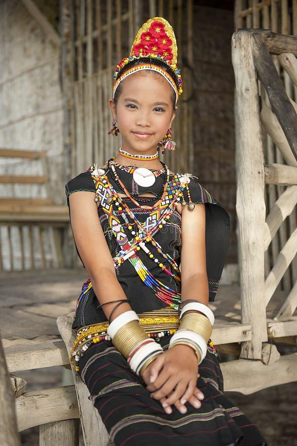 Młoda dama od Rungus etnicznego fotografia royalty free