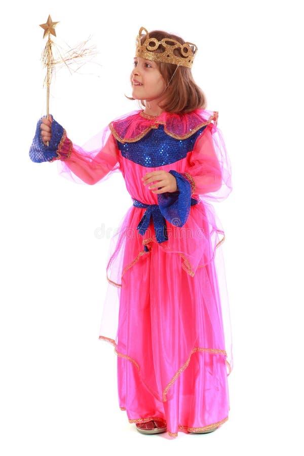 Młoda dziewczyna jako magiczna czarodziejka fotografia royalty free