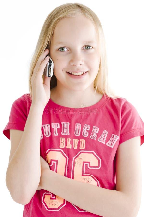 młoda dziewczyna telefonu obraz royalty free