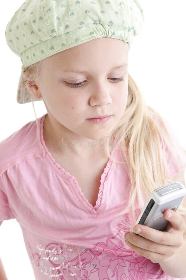 młoda dziewczyna telefonu zdjęcie stock