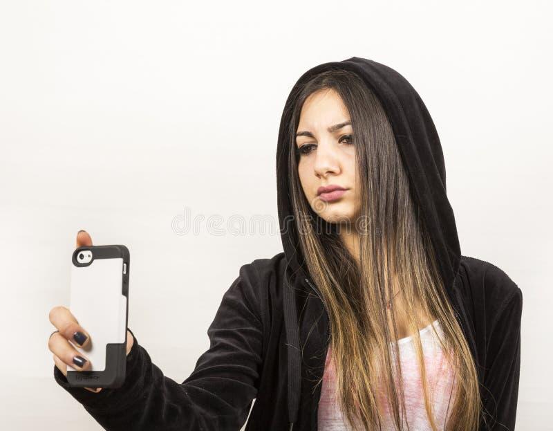 Młoda dziewczyna w studiu zdjęcie stock