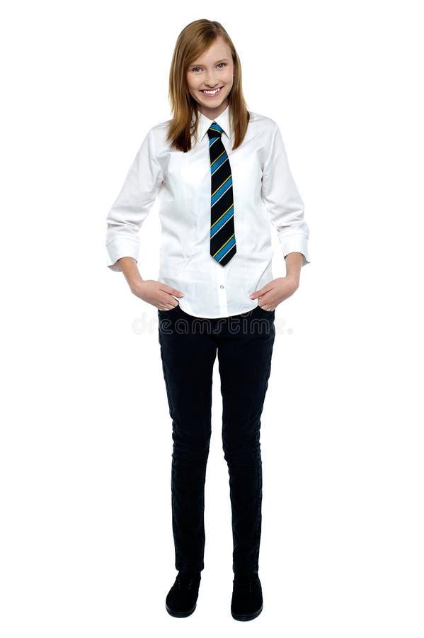 Młoda elegancka szkoły średniej dziewczyna obrazy stock