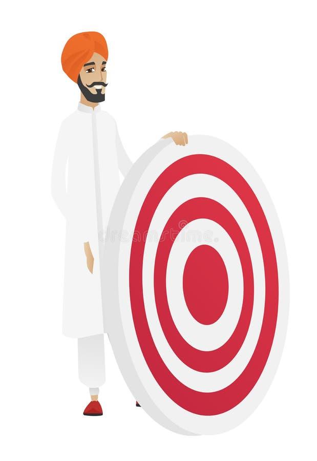 Młoda hinduska biznesmena i strzałki deska ilustracji