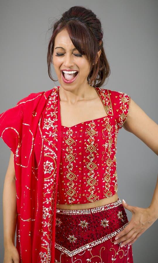 Download Młoda Indiańska Kobieta Patrzeje Excited Zdjęcie Stock - Obraz złożonej z usta, hindus: 41952162