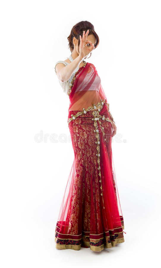 Download Młoda Indiańska Kobieta Pokazuje OK Znaka Obraz Stock - Obraz złożonej z wyrażenie, dorosli: 41951659