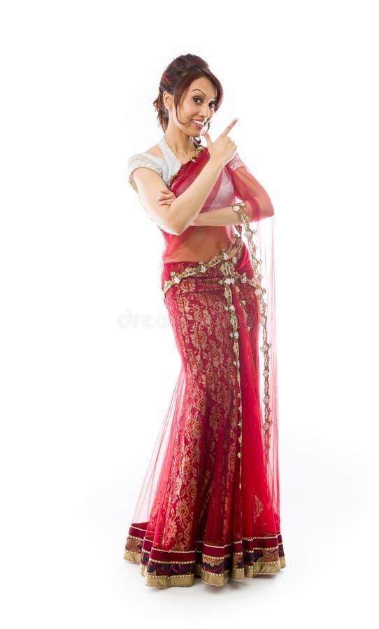 Download Młoda Indiańska Kobieta Robi Smiley Twarzy Zdjęcie Stock - Obraz złożonej z kultura, tylko: 41951632