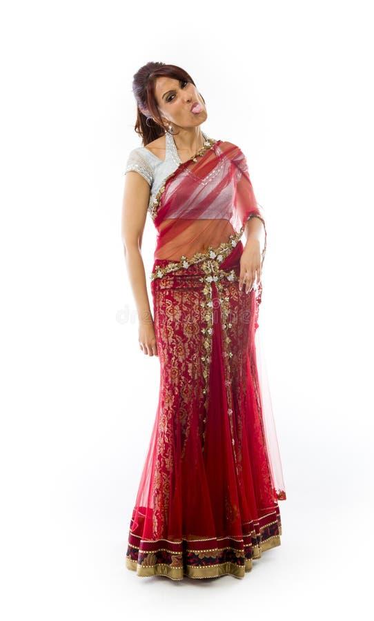 Download Młoda Indiańska Kobieta Wtyka Out Jej Jęzor Zdjęcie Stock - Obraz złożonej z facial, hindus: 41951764