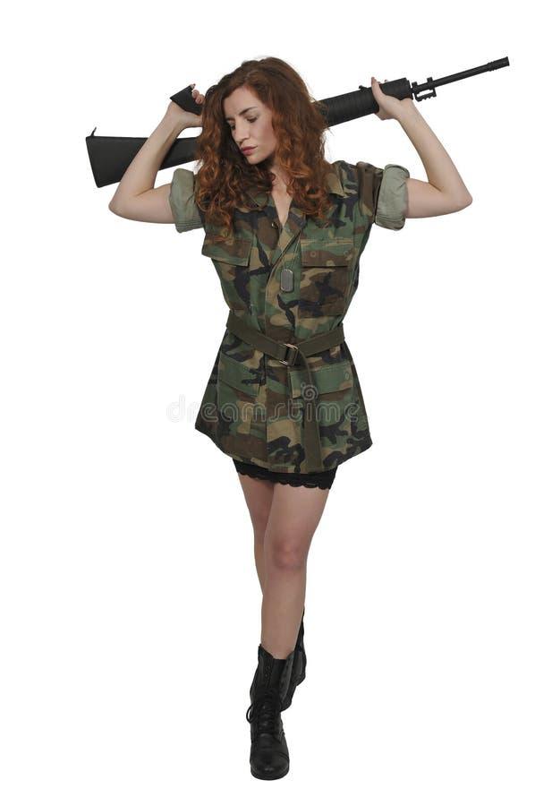 Młoda kobieta żołnierz zdjęcie royalty free