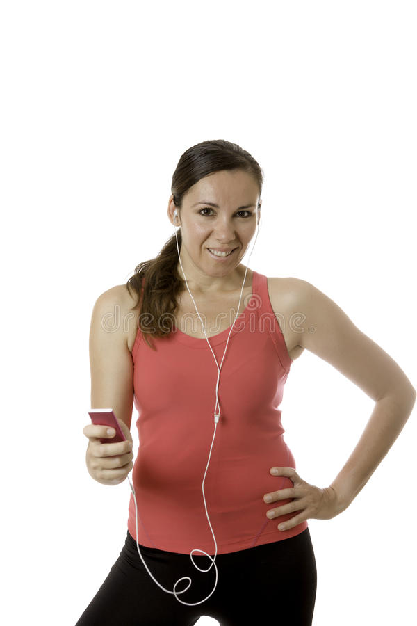 Młoda kobieta biegacz zdjęcia royalty free