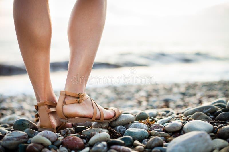 Download Młoda kobieta na plaży obraz stock. Obraz złożonej z równo - 28963491